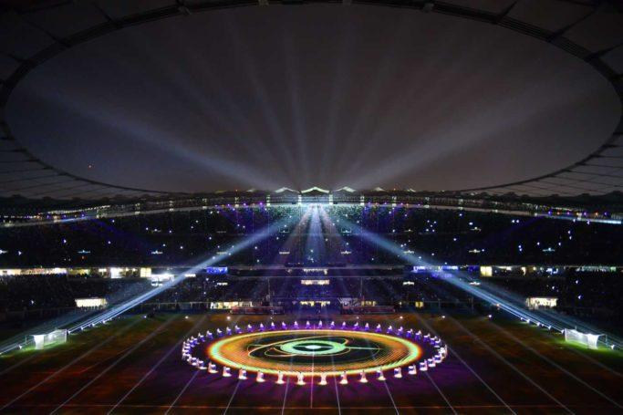 compagnie hybride stadium opening show